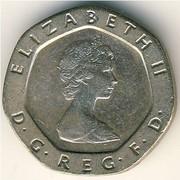 Продам монету 20 pence(1982года)