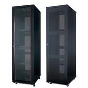 Шкафы от 6U до 47U,  с разной степенью защиты,  с различными комплектующ